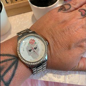Betsey Johnson Skull Watch